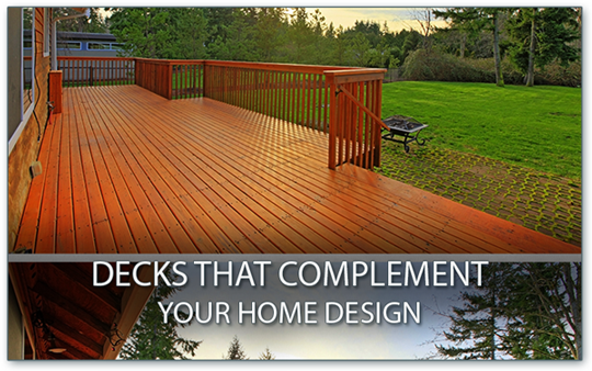 decks complement home design